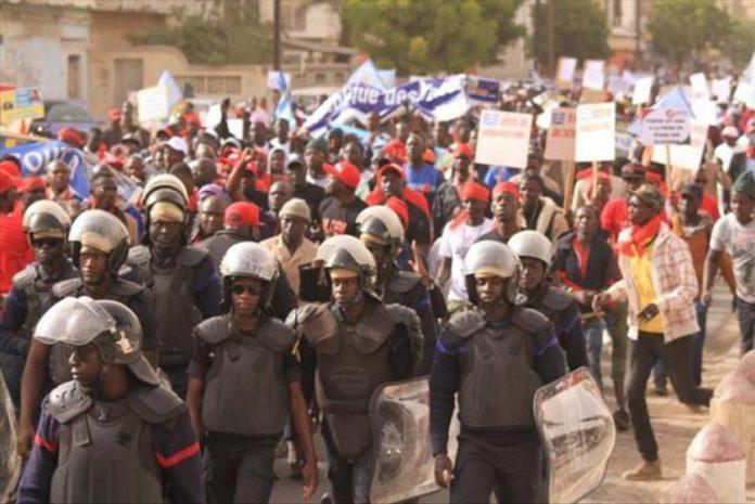 Diourbel : marche nationale des syndicats enseignants